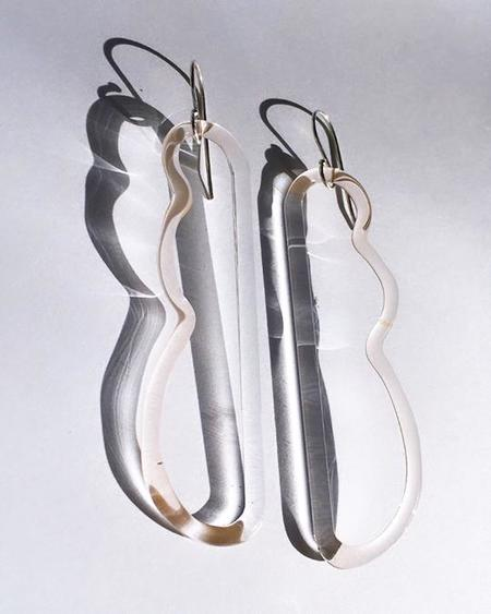 JANE D'ARENSBOURG Wave Earrings - Sterling Silver/Peach