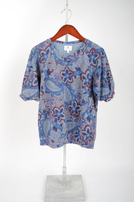Sundry Paisley Short-Sleeve Raglan top - SAPPHIRE