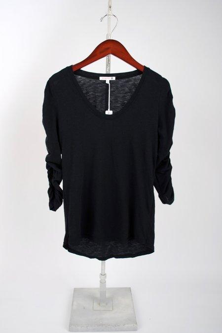 Sundry Shirred Sleeve Tee - Navy