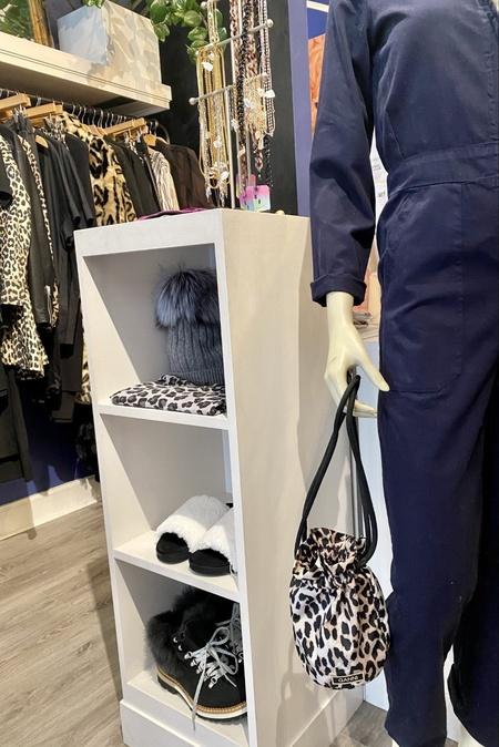 GANNI Tech Fabric Drawstring bag - Leopard