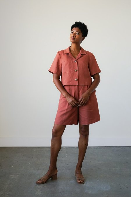 Waltz Camp Shirt Jacket - Cinnamon