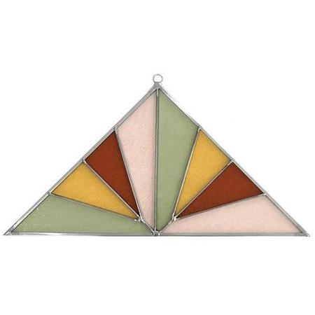 Debbie Bean Large Triangle Stained Glass Panel - Pink Buckwheat
