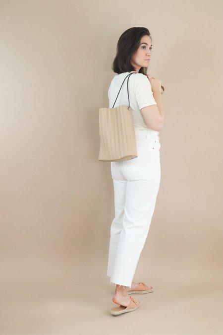 Nice Things Paloma Pleated Cross-Body Bag - Beige