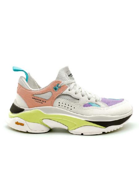 Brandblack Women's Saga Nectarine sneakers - Turquoise/Orchid/Lime