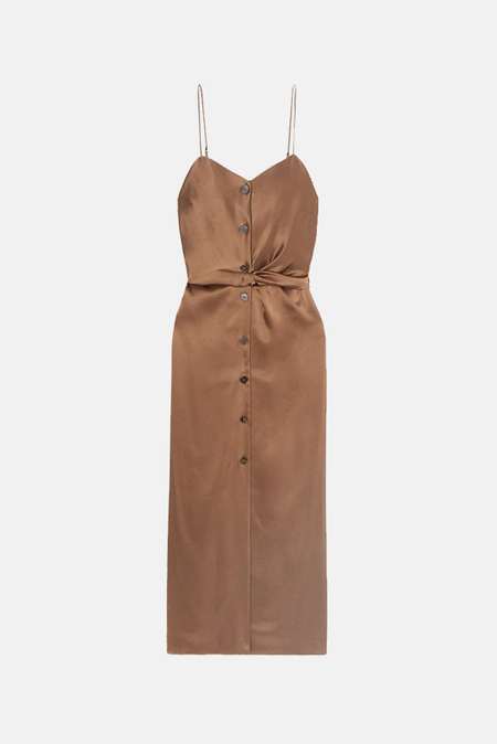 Nanushka Sayan Midi Slip Dress - Brown