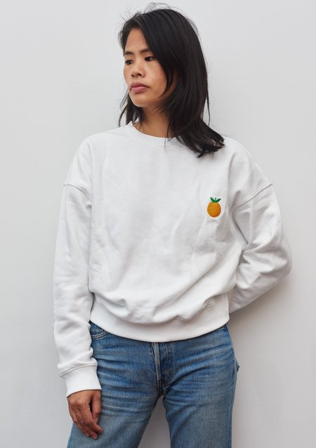 BOWER. A plus pamplemousse sweater - white
