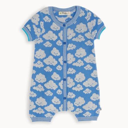 kids the bonnie mob hockney cloud playsuit - blue