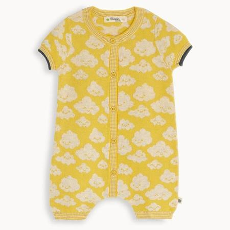 kids the bonnie mob hockney cloud playsuit - yellow