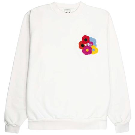 Arte Antwerp colson multi flower sweater - White