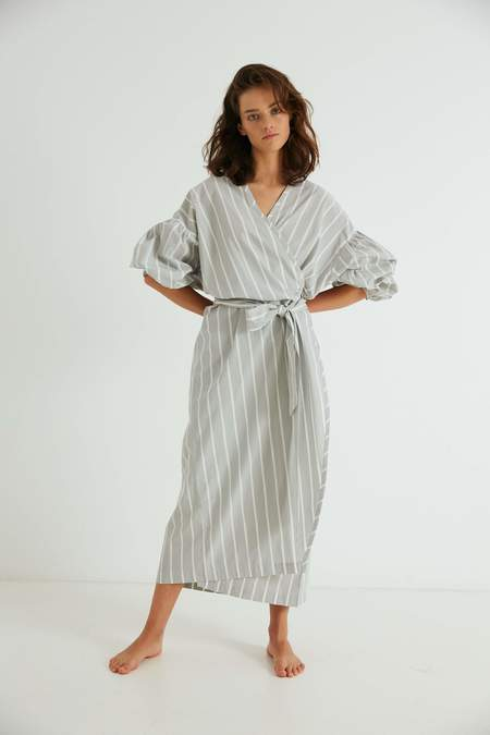 General Sleep Agnes Wrap dress - Sky