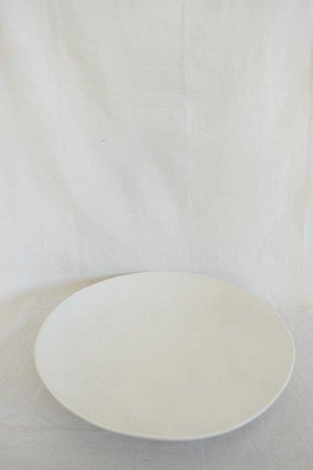 Mervyn Gers Flat Serving Bowl - White Glaze