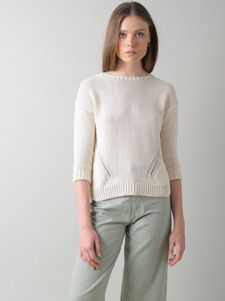 Indi & Cold Recycled Cotton Sweater - Crudo