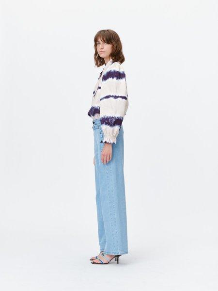 Munthe Tresco Top - Indigo Tie Dye