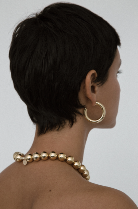 YOUNG FRANKK ALEX BEADED COLLAR - gold-plated