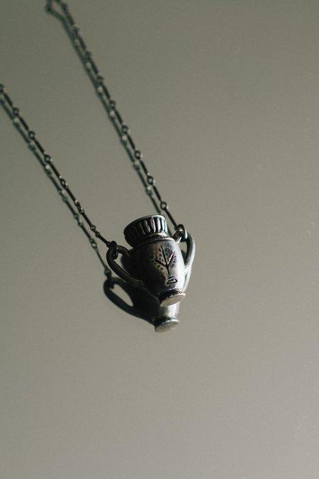 Dwellore Algiz Vessel Sterling Necklace - Silver