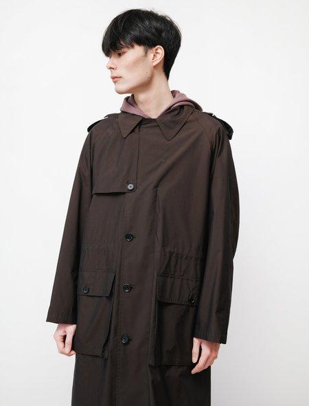 Auralee Finx Nylon Chambray Field Coat - Black