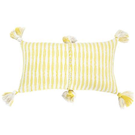 Archive New York Antigua Pillow - Faded Yellow Stripe