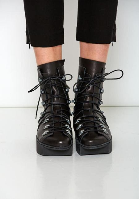 Trippen Hook and Eye Laced Boots