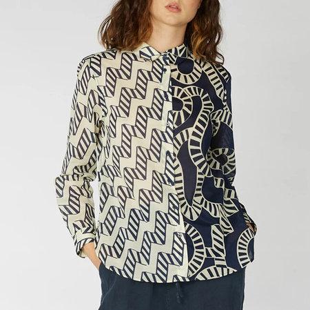 Gorman x Camilla Perkins Aquarius Splice Shirt - Black/Cream