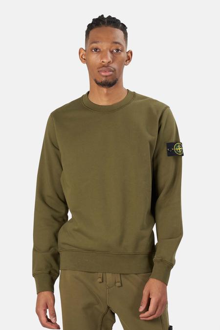 Stone Island Garment Dyed Crewneck Sweater - Olive