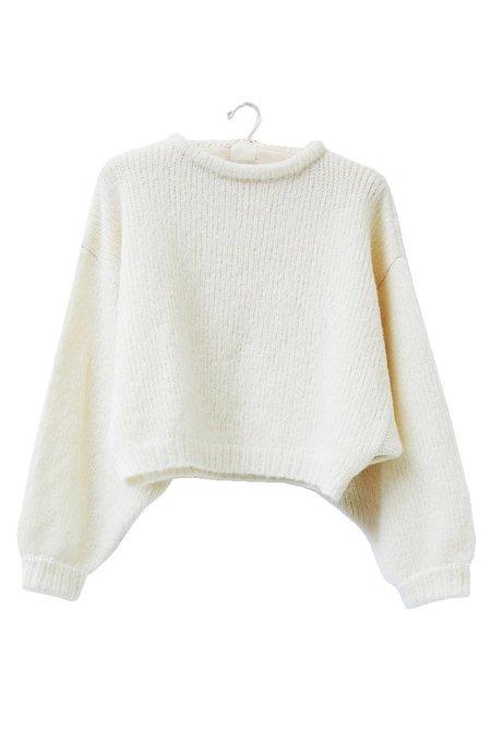 Atelier Delphine Balloon Alpaca Sleeve Sweater - Cream