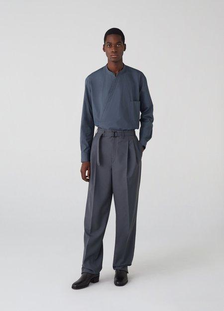 Unisex Lemaire wrapover shirt - midnight turquoise