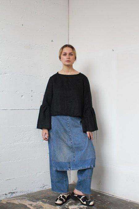 Alexa Stark linen bell sleeve top