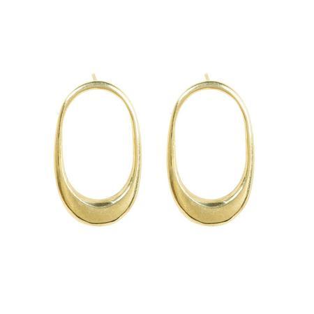 Soko Mezi Stud Earrings - 24k gold plated brass