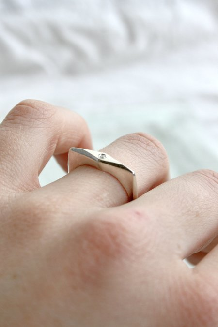 Mercurial NYC Knife Edge Ring - Silver