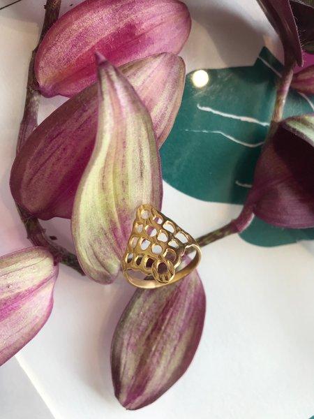 Mercurial NYC Lattice Ring - Gold Vermeil