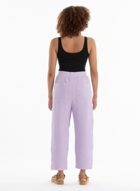 Ali Golden Quilted Pants - Lilac