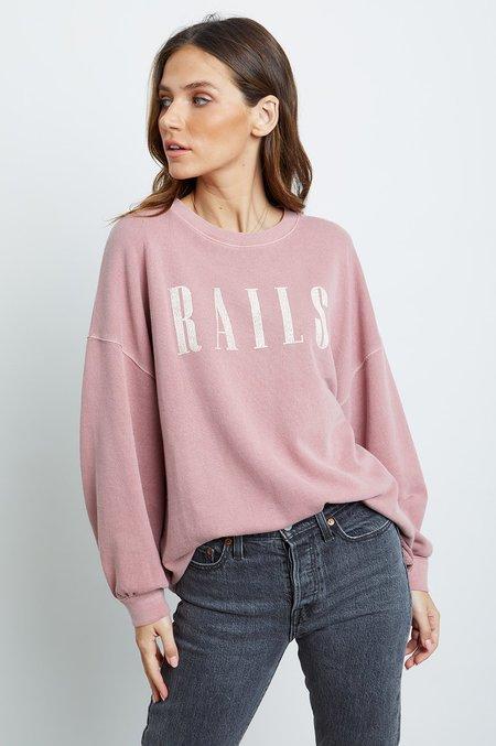 Rails Signature Sweatshirt - Vintage Rose