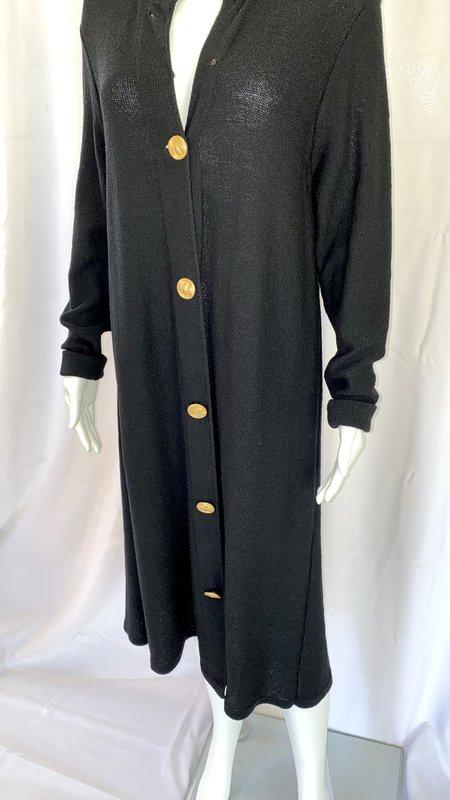 pre-loved Sheer Knit Dress - black