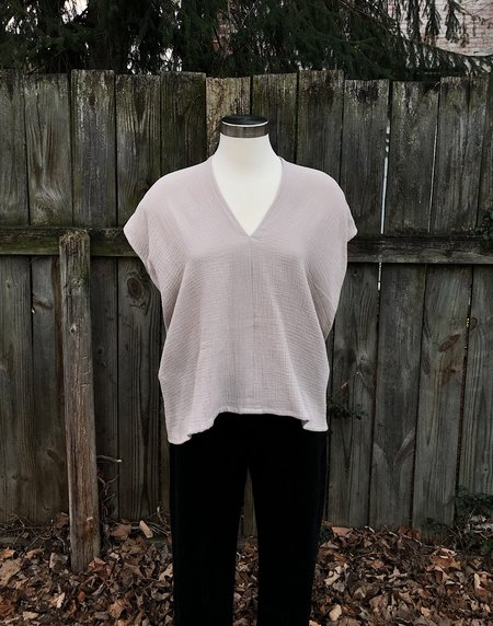 Miranda Bennett Everyday Top - Isla Cotton Bubble Gauze