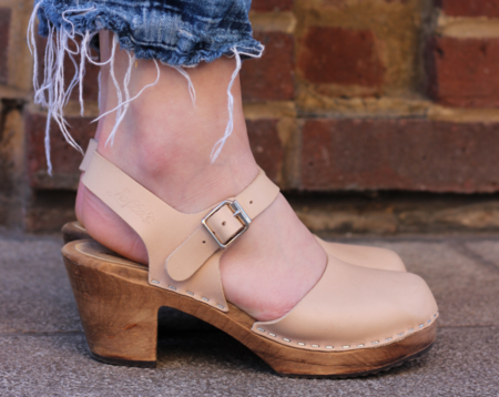 Lotta from Stockholm Highwood Clog - Cappuccino/Brown Base