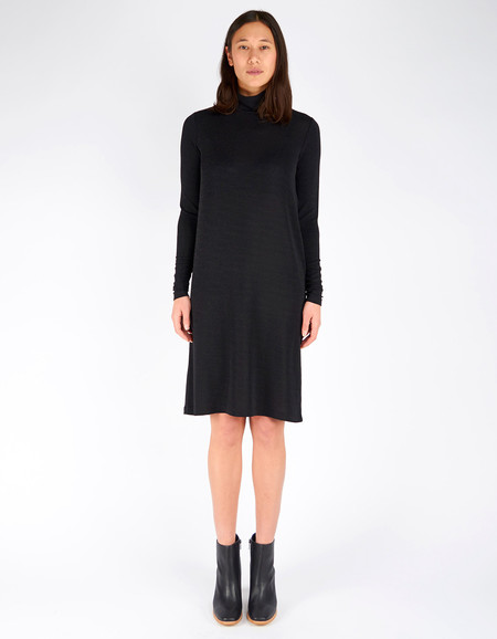 Just Female Crowed Rollneck Dress Black