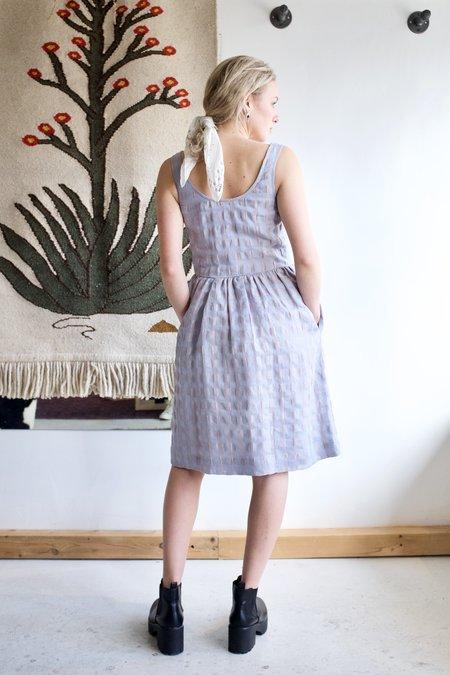 Eve Gravel Pearl Dress - Aqua/Taupe