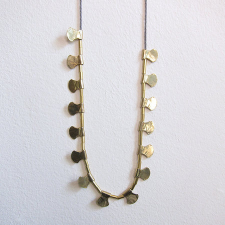 Satomi Studio blade layer necklace - brass