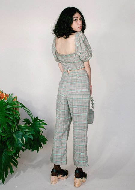 Samantha Pleet Ballad Pants - Plaid
