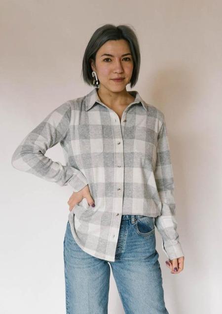 Faherty Legend Sweater Shirt - White/Grey