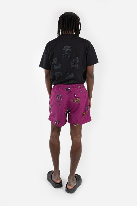 Soulland William Shorts - Purple AOP