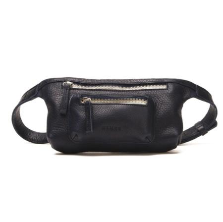 Nimes Multi Zip Fanny Pack - Black Leather
