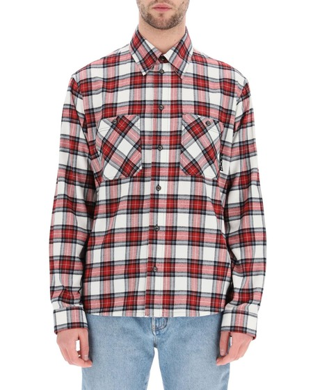 Off-White Check Flannel Shirt - Multicolor
