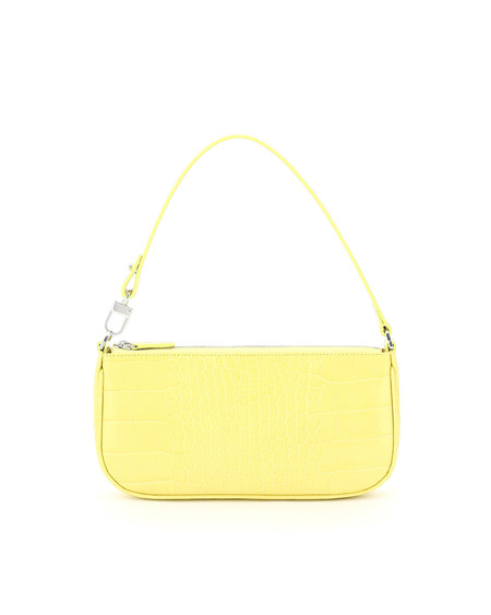 By FAR Rachel Croc Print Bag - Yellow