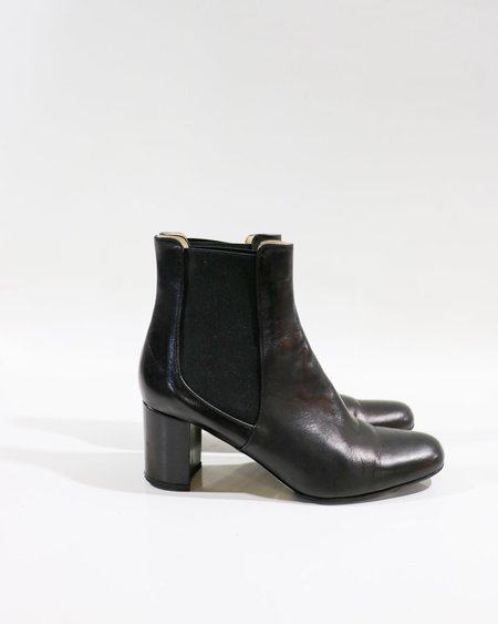 [pre-loved] Tomorowland Leather Ankle Boots - Black