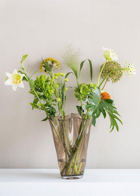 Urban Nature Culture Waves Glass Vase - smoke grey