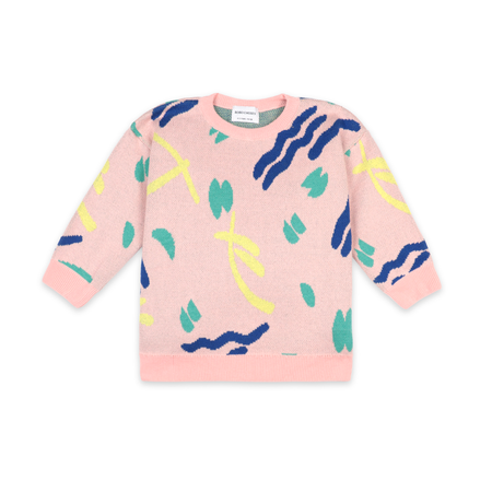 kids Bobo Choses Strokes Jumper - Pink