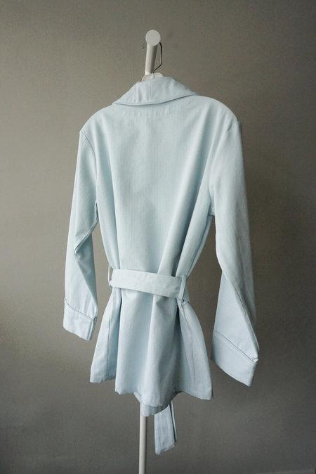 P. Le Moult Smoking Jacket - Light Blue