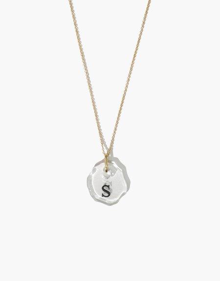 Cled Black Engraving Messenger Necklace