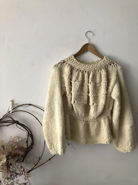 Stellapop Gathered Sweater- Ivory